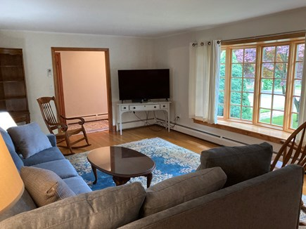 EDGARTOWN Historic District Martha's Vineyard vacation rental - 55'' TV has high definition cable service and WiFi connection