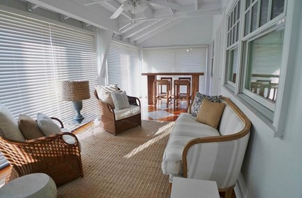 Oak Bluffs Martha's Vineyard vacation rental - Sunroom with a beautiful waterview of Vineyard Sound