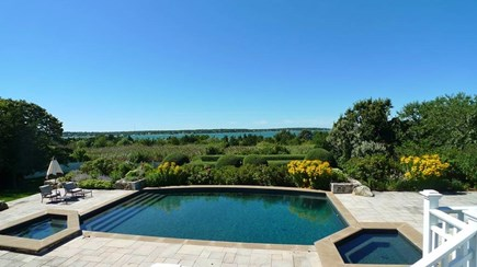 Oak Bluffs Martha's Vineyard vacation rental - Built in stone pool with two whirlpools