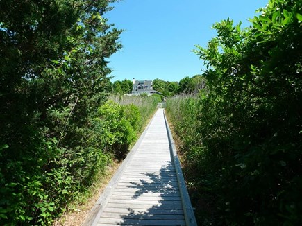 Oak Bluffs Martha's Vineyard vacation rental - Boardwalk leading to your private dock for boating