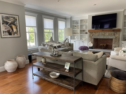 Oak Bluffs Martha's Vineyard vacation rental - Living Room with a Cozy Fireplace.