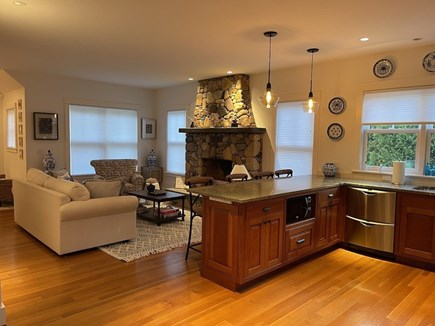 Oak Bluffs Martha's Vineyard vacation rental - Beautiful Stone Fireplace Centered in the Living Room.