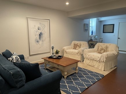 Oak Bluffs Martha's Vineyard vacation rental - Comfortable Seating Area in finished Basement.