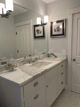 Oak Bluffs Martha's Vineyard vacation rental - Marble Sink in the Bathroom on Second Floor.