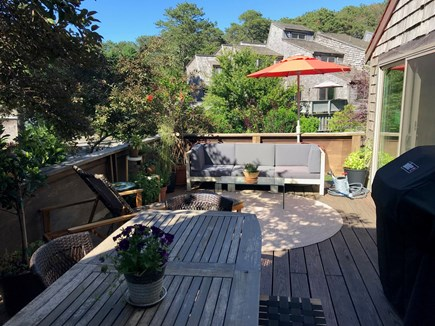 Oak Bluffs Martha's Vineyard vacation rental - Deck fully equipped, with 3 large sliding double doors.