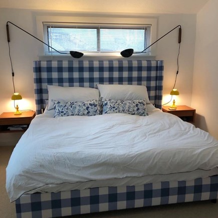 Oak Bluffs Martha's Vineyard vacation rental - King bedroom with cathedral ceiling.