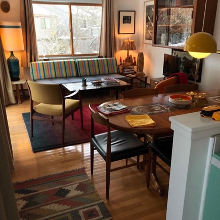 Oak Bluffs Martha's Vineyard vacation rental - Den/dining area, with double doors to deck.