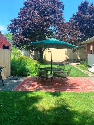 Oak Bluffs Martha's Vineyard vacation rental - Brick patio in the back yard.
