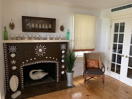 Oak Bluffs Martha's Vineyard vacation rental - More of the Living Room and Seashell Fireplace.