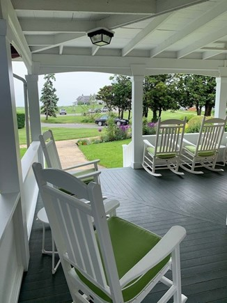 Oak Bluffs Martha's Vineyard vacation rental - Enjoy the Ocean Views on the Porch Complete with Rocking Chairs
