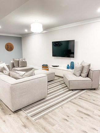 Edgartown Martha's Vineyard vacation rental - Finished Lower Level Media Area