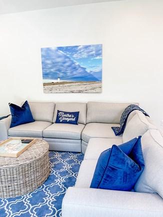Edgartown Martha's Vineyard vacation rental - Sectional Sofa with Flat Screen TV