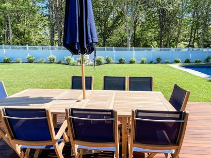 Edgartown Martha's Vineyard vacation rental - Outdoor Table and Chairs