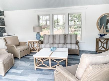 Edgartown Martha's Vineyard vacation rental - Pool House Living Area