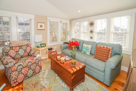 Oak Bluffs Martha's Vineyard vacation rental - Sun drenched living room in studio, with TV