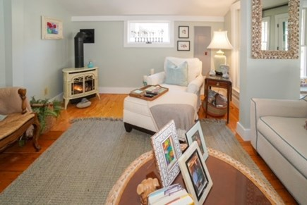 Oak Bluffs Martha's Vineyard vacation rental - Fireplace in Living Room accents the space
