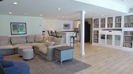 Oak Bluffs Martha's Vineyard vacation rental - Lower Level Media Room with Kitchen/Bar Sitting Area