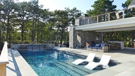 Oak Bluffs Martha's Vineyard vacation rental - Heated Salt Waterfall In-Ground Pool