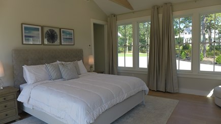Oak Bluffs Martha's Vineyard vacation rental - 1st Fl King Master en-suite w/ sliding doors open to deck & pool