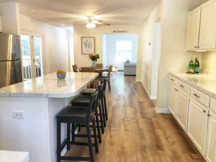 Oak Bluffs Martha's Vineyard vacation rental - Entry into kitchen, breakfast bar & dining area