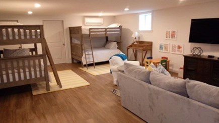 Edgartown Martha's Vineyard vacation rental - Basement with full over full bunk beds