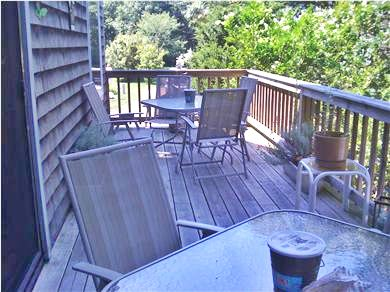 Oak Bluffs Martha's Vineyard vacation rental - Deck with two eating areas