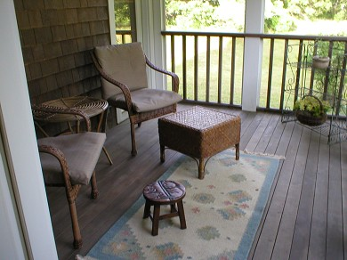 Aquinnah Martha's Vineyard vacation rental - A screened porch is great for reading.