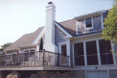 Aquinnah Martha's Vineyard vacation rental - A roomy deck with ample seating