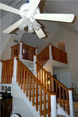 Aquinnah Martha's Vineyard vacation rental - Wide stairway to upstairs suite -or down for breakfast!