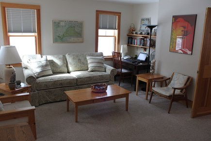 Vineyard Haven, Lower Makonikey, off Lambert's Martha's Vineyard vacation rental - Den with sofa bed, HD TV