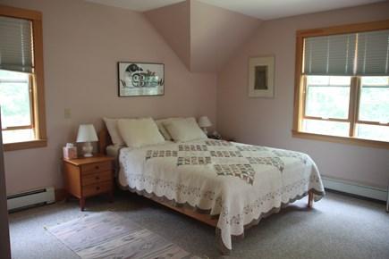 Vineyard Haven, Lower Makonikey, off Lambert's Cove Rd Martha's Vineyard vacation rental - Master bedroom, en suite bath