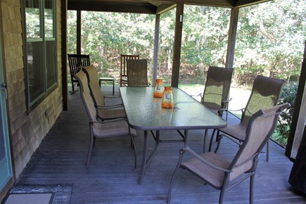 Vineyard Haven, Lower Makonikey, off Lambert's Cove Rd Martha's Vineyard vacation rental - Outside dining