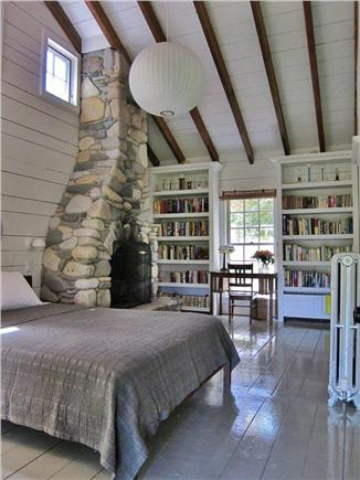 Vineyard Haven Martha's Vineyard vacation rental - Master bedroom with fireplace and writing desk.