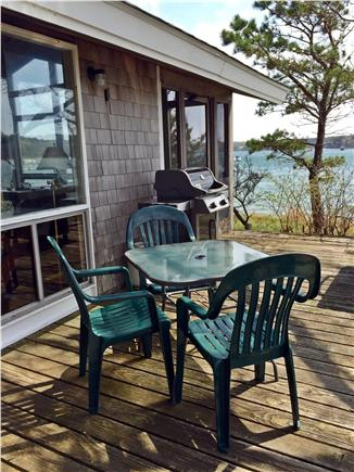 Vineyard Haven Martha's Vineyard vacation rental - New gas grill for dining on the deck.