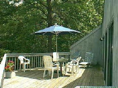 Edgartown Martha's Vineyard vacation rental - View of 550 sq.ft. deck with furniture & gas grill