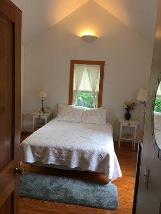Edgartown Martha's Vineyard vacation rental - First floor Guest Bedroom- vaulted ceiling & windows on 3 sides