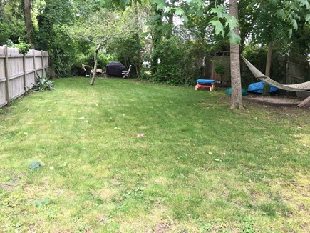 Edgartown Martha's Vineyard vacation rental - Large enclosed back yard with BBQ