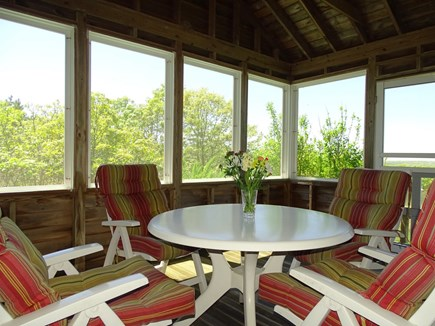 Chilmark Martha's Vineyard vacation rental - Best seat in the house – screened porch overlooking nature
