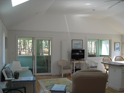 East Chop (Oak Bluffs) Martha's Vineyard vacation rental - Open floor plan showing living area, kitchen