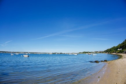 Oak Bluffs Martha's Vineyard vacation rental - Beach in front of house, steps from deck