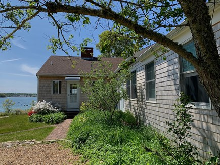 Oak Bluffs Martha's Vineyard vacation rental - From parking area, length of house to water in mid-May