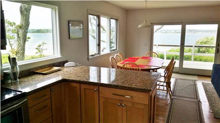 Oak Bluffs Martha's Vineyard vacation rental - From kitchen past dining area seating 8 to deck & water