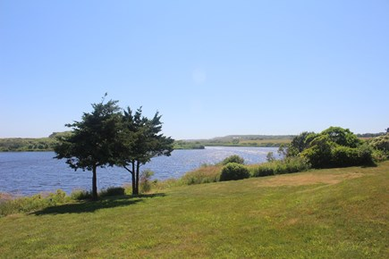 Chilmark - Lucy Vincent Beach Martha's Vineyard vacation rental - Pond view from back yard