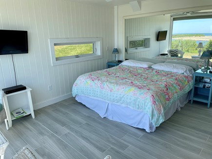 Chilmark - Lucy Vincent Beach Martha's Vineyard vacation rental - Master bedroom with king bed