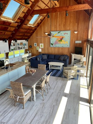 Chilmark - Lucy Vincent Beach Martha's Vineyard vacation rental - Great room view from 2nd floor