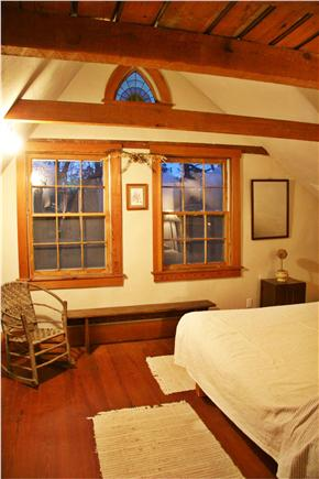 Chilmark Martha's Vineyard vacation rental - Queen Bedroom (View toward windows)
