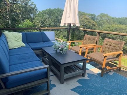 West Tisbury Martha's Vineyard vacation rental - Deck seating area