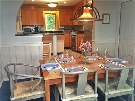 Vineyard Haven Martha's Vineyard vacation rental - Dining room looking into kitchen