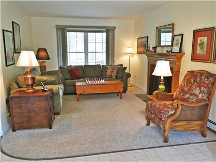 Katama - Edgartown, Edgartown/Katama Martha's Vineyard vacation rental - Family room adjacent to kitchen with fireplace