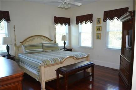 Edgartown/West Tisbury Line Martha's Vineyard vacation rental - Master bedroom with ceiling fan
